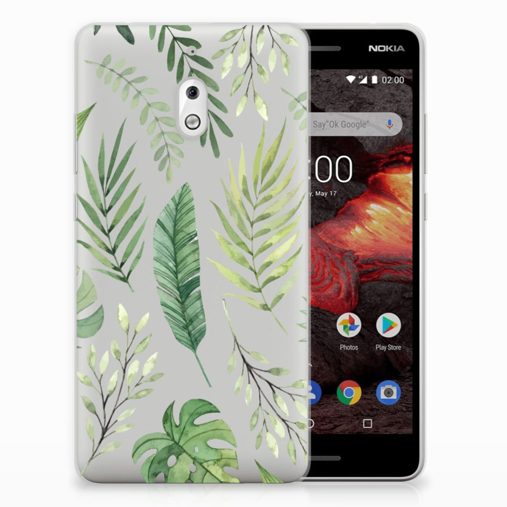 Nokia 2.1 (2018) TPU Case Leaves