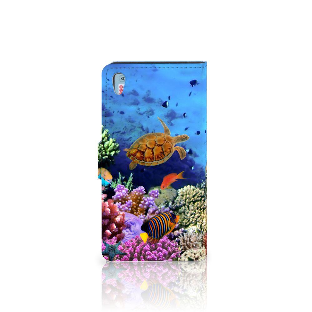 Sony Xperia Z5 | Z5 Dual Telefoonhoesje met Pasjes Vissen