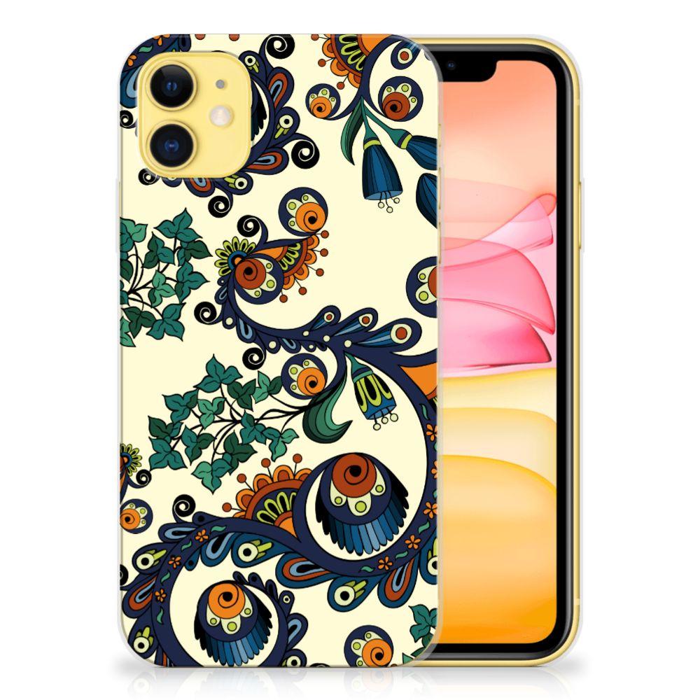 Siliconen Hoesje Apple iPhone 11 Barok Flower