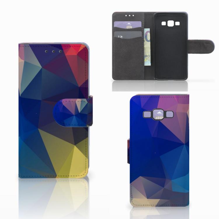 Samsung Galaxy A3 2015 Bookcase Polygon Dark