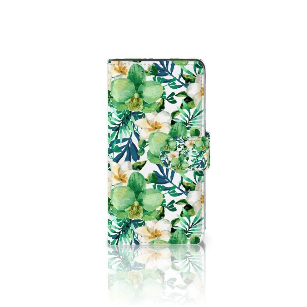 Motorola Moto G 3e Generatie Uniek Boekhoesje Orchidee Groen