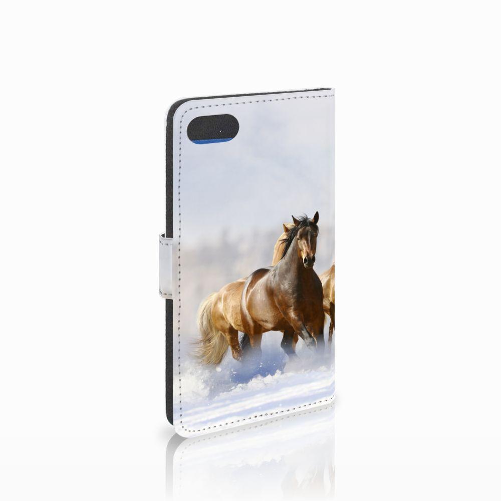 Huawei Y5 2018 Uniek Boekhoesje Paarden