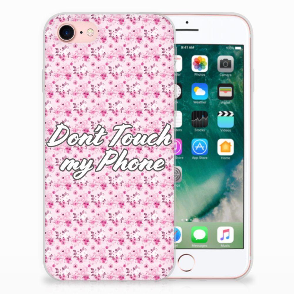 Apple iPhone 7 | 8 Uniek TPU Hoesje Flowers Pink DTMP
