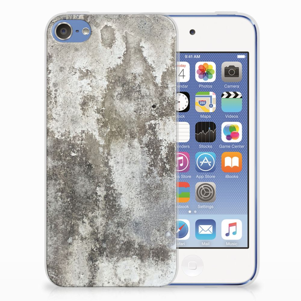Apple iPod Touch 5 | 6 TPU Siliconen Hoesje Beton Print