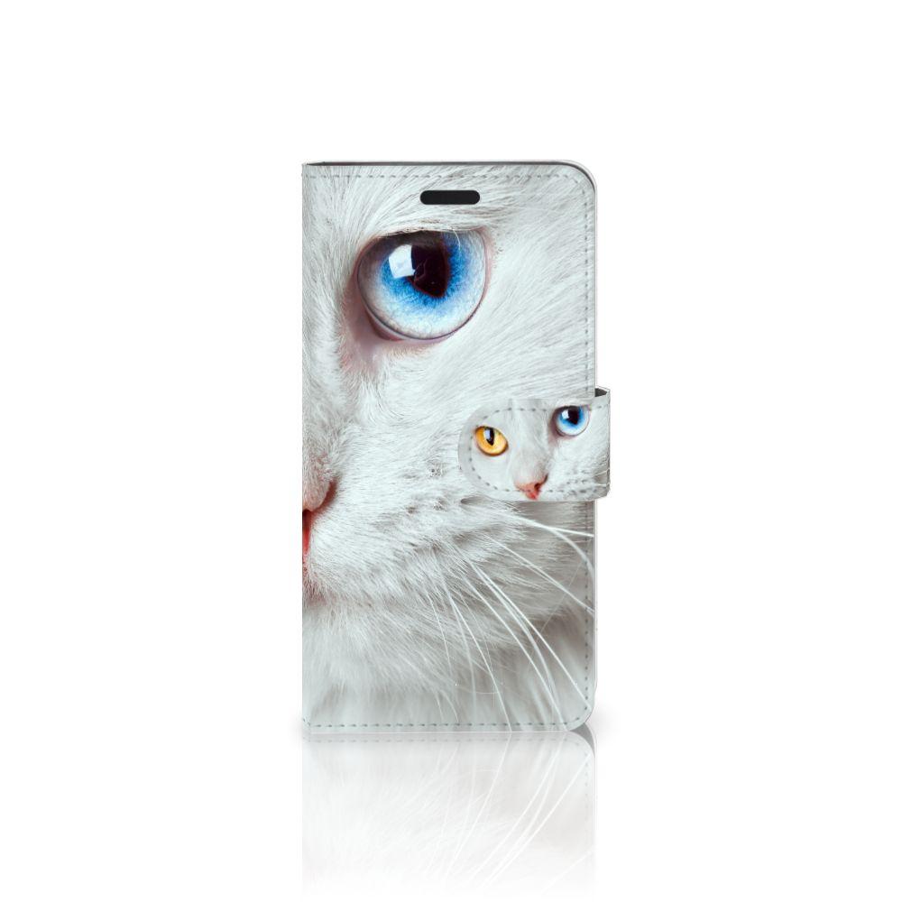 HTC 10 Uniek Boekhoesje Witte Kat