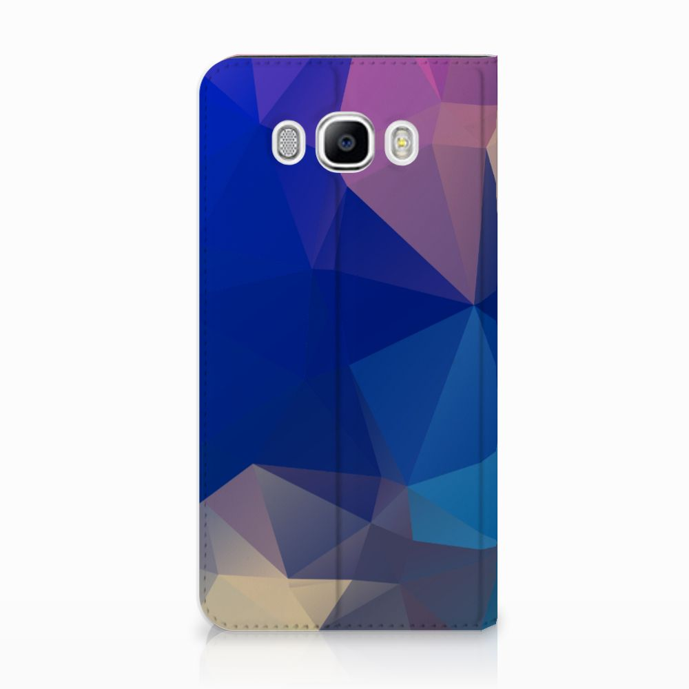 Samsung Galaxy J7 2016 Uniek Standcase Hoesje Polygon Dark