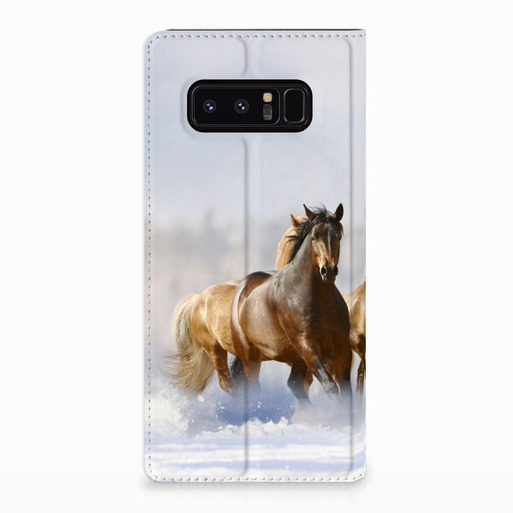 Samsung Galaxy Note 8 Uniek Standcase Hoesje Paarden