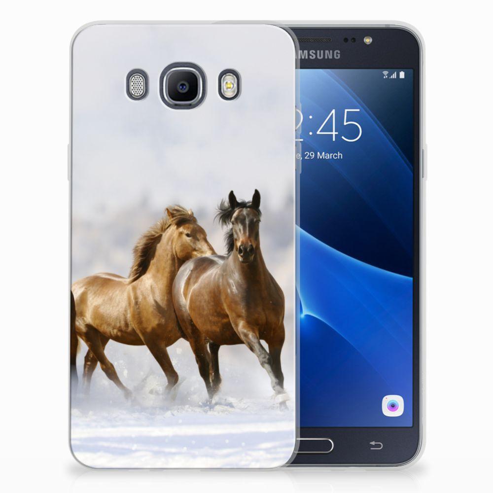 Samsung Galaxy J7 2016 TPU Hoesje Paarden
