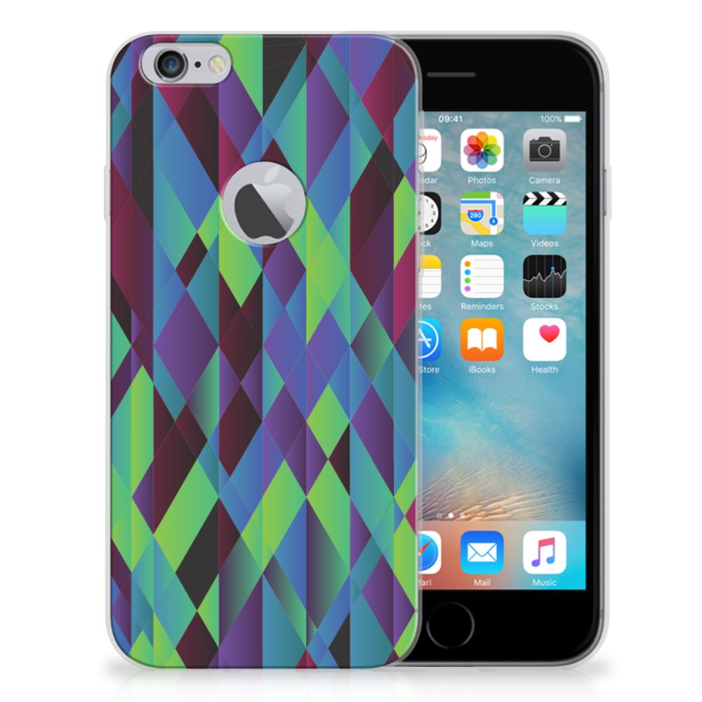 Apple iPhone 6 Plus | 6s Plus TPU Hoesje Abstract Green Blue