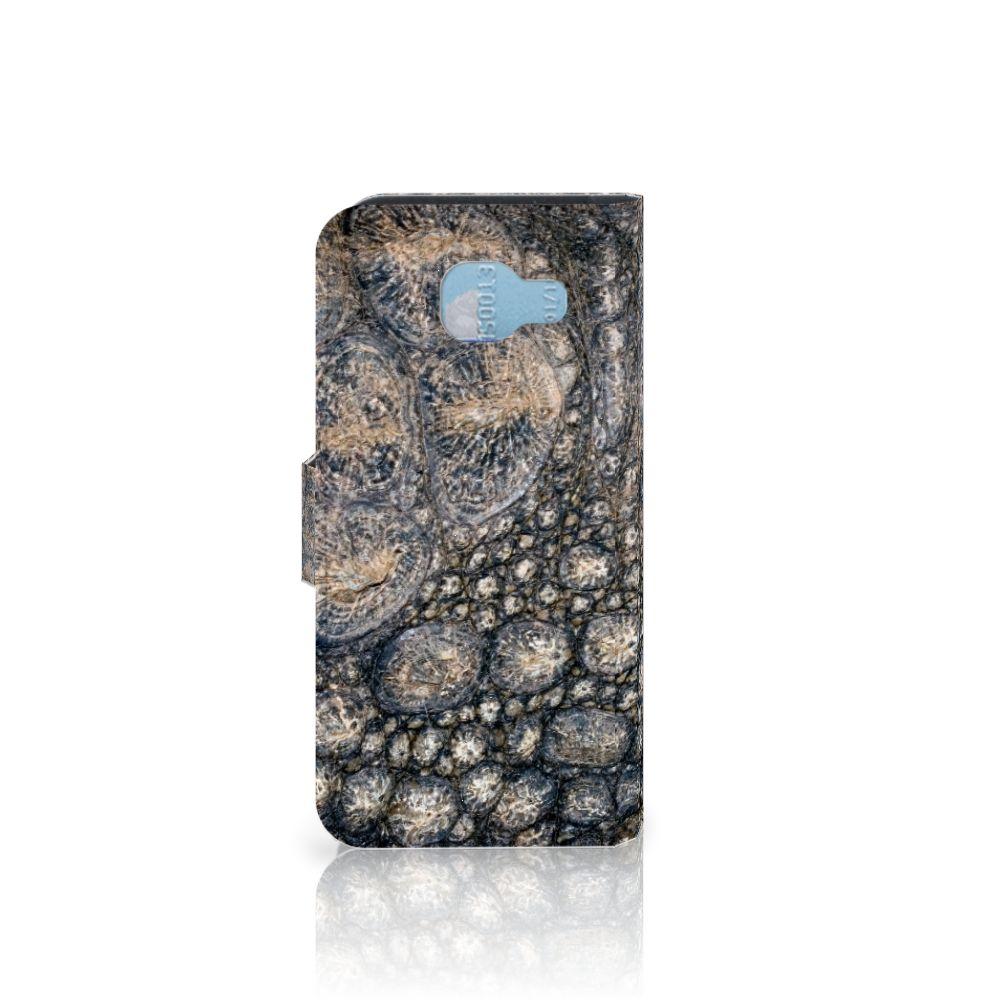 Samsung Galaxy A5 2016 Telefoonhoesje met Pasjes Krokodillenprint