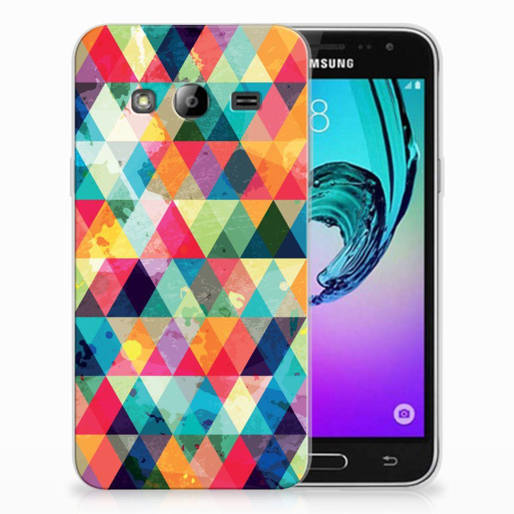 Samsung Galaxy J3 2016 TPU bumper Geruit