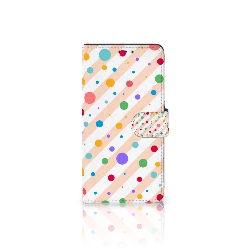 Samsung Galaxy A8 Plus (2018) Boekhoesje Design Dots