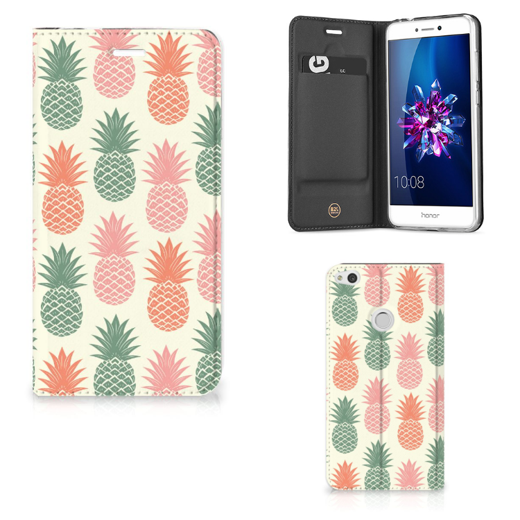 Huawei P8 Lite 2017 Flip Style Cover Ananas