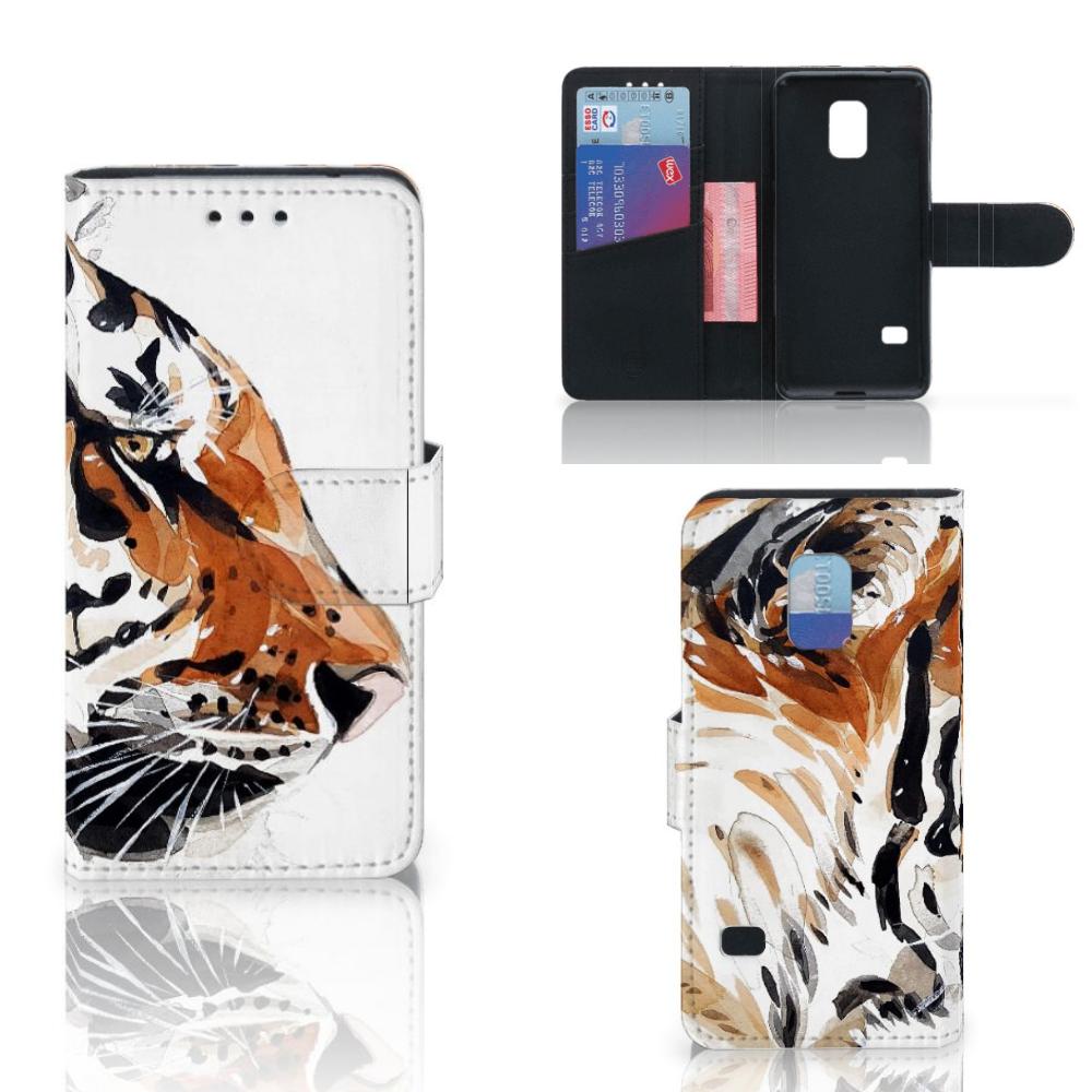 Hoesje Samsung Galaxy S5 Mini Watercolor Tiger