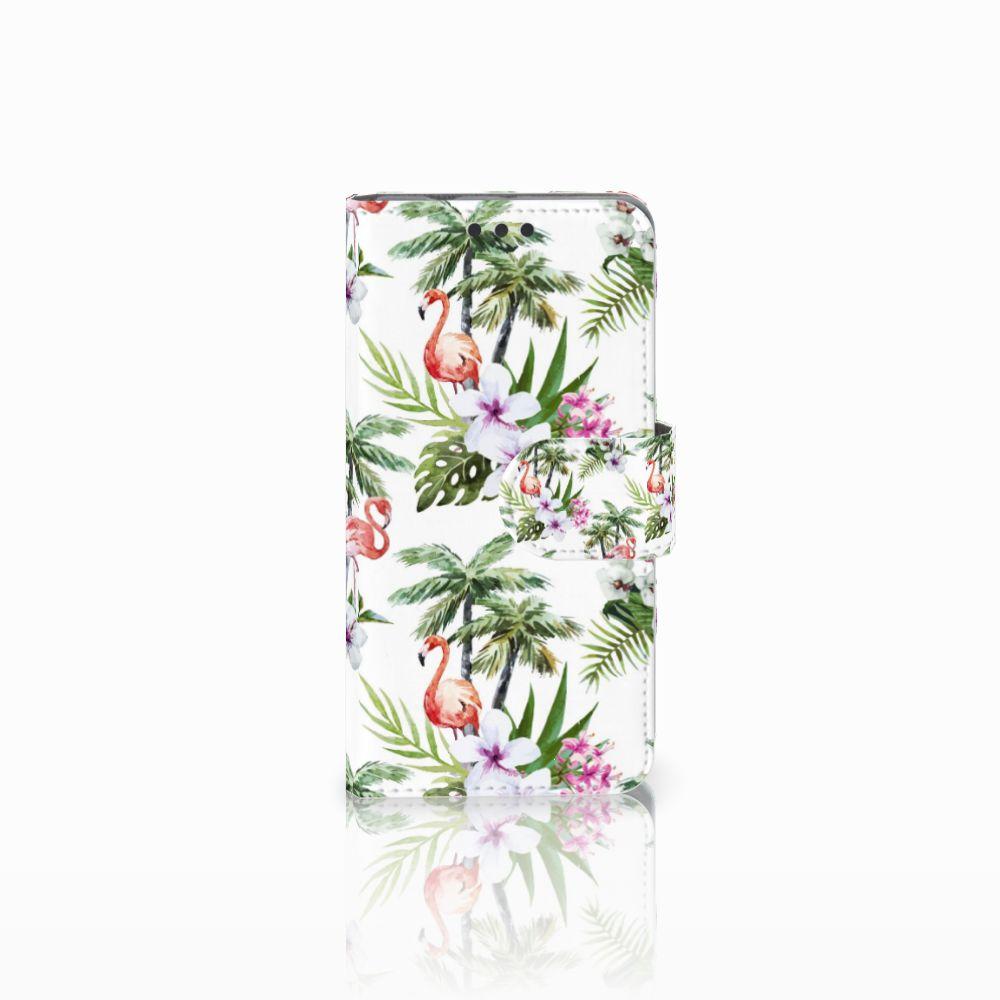 Sony Xperia Z3 Compact Telefoonhoesje met Pasjes Flamingo Palms