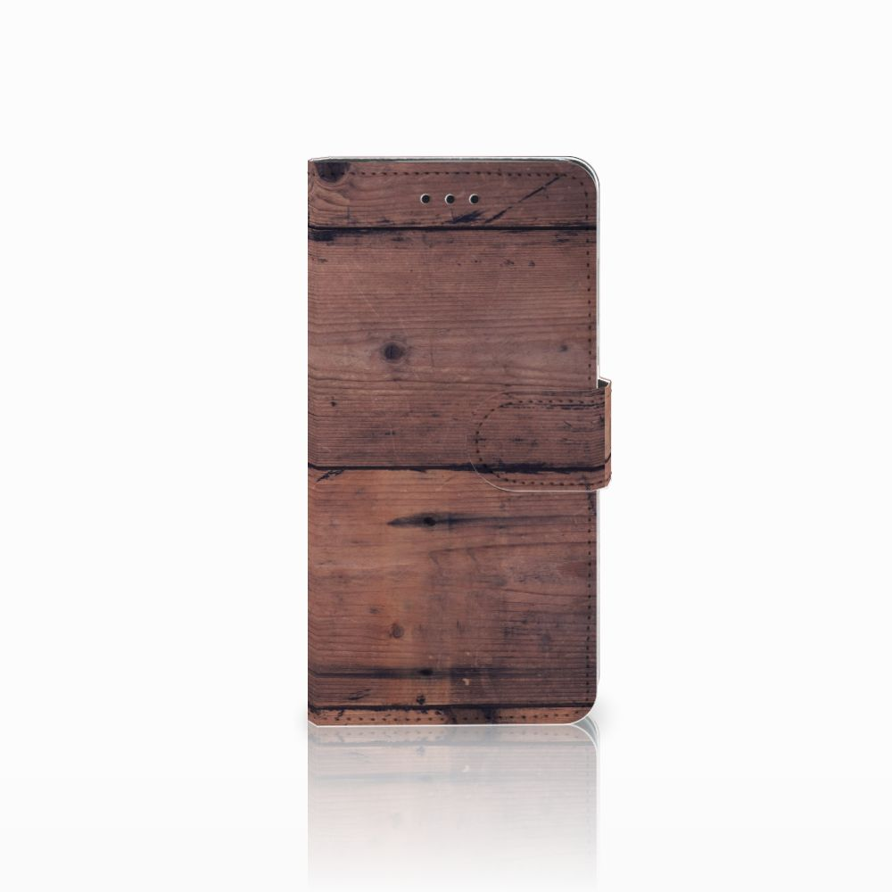 Huawei Y5 2018 Uniek Boekhoesje Old Wood