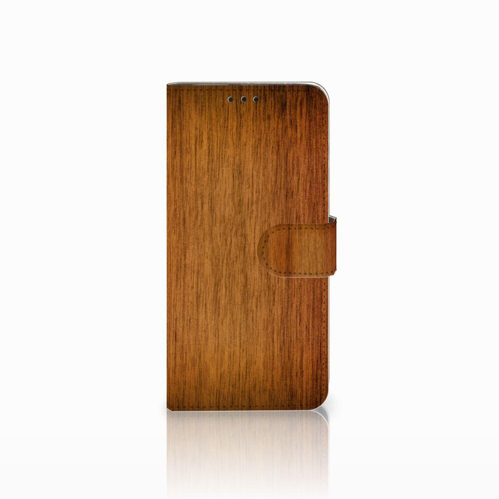 Huawei Nova 4 Uniek Boekhoesje Donker Hout