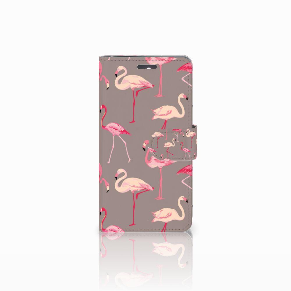 Lenovo K6 Uniek Boekhoesje Flamingo