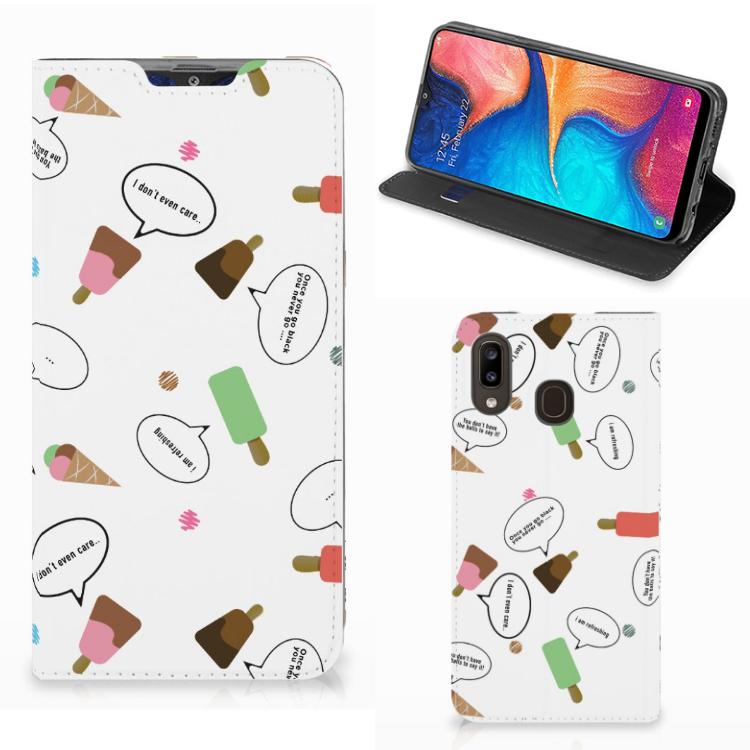Samsung Galaxy A30 Flip Style Cover IJsjes