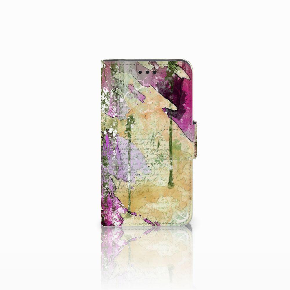 Samsung Galaxy Core i8260 Uniek Boekhoesje Letter Painting