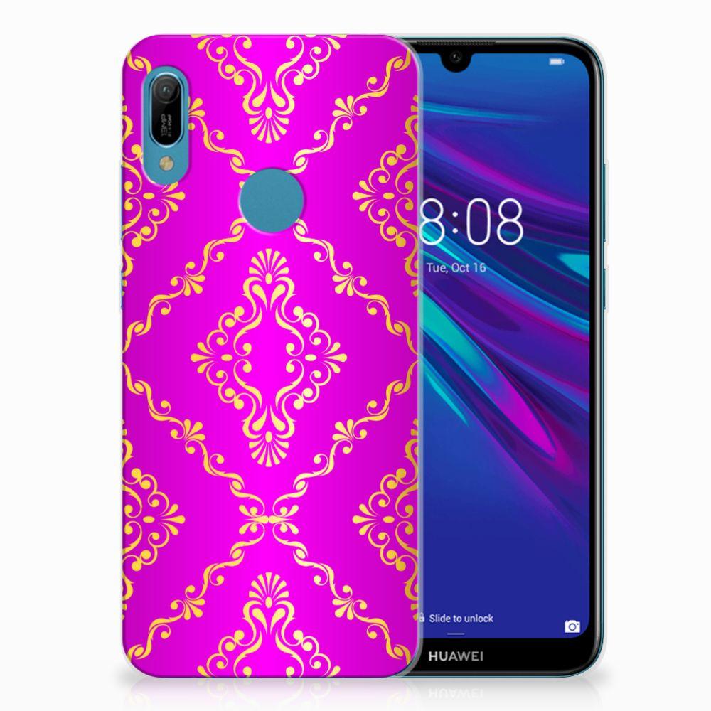 Siliconen Hoesje Huawei Y6 2019 | Y6 Pro 2019 Barok Roze