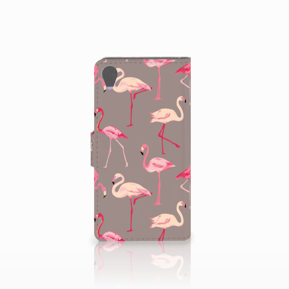 Sony Xperia X Telefoonhoesje met Pasjes Flamingo