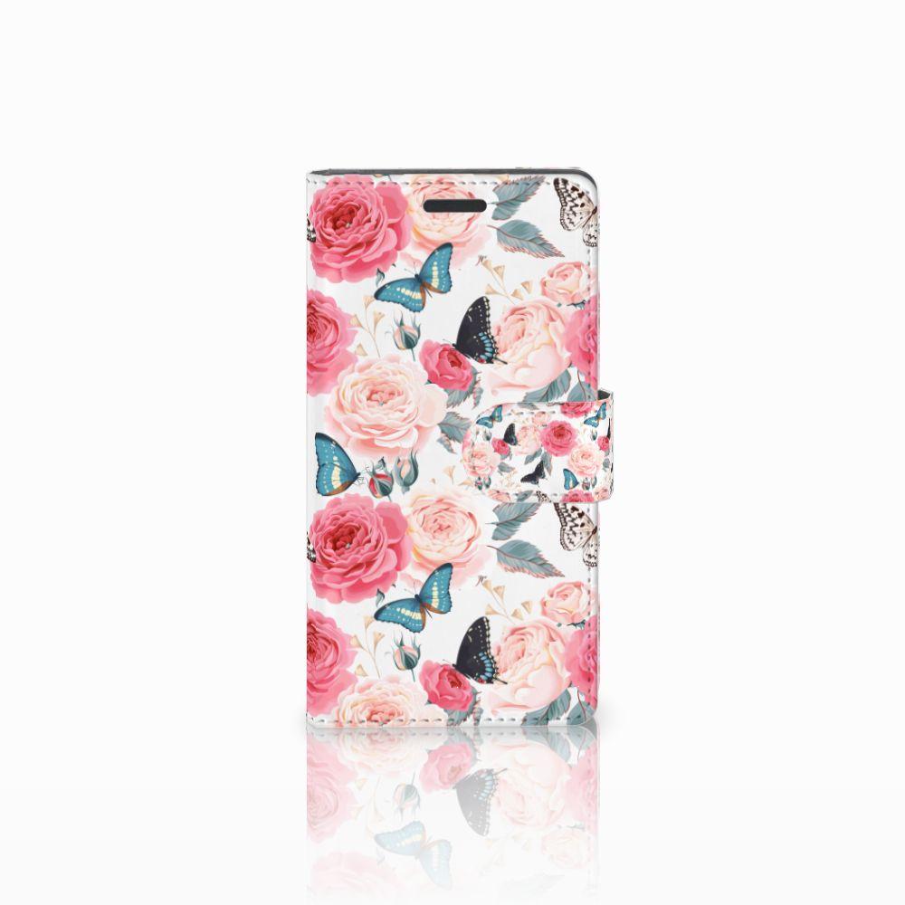 Nokia Lumia 830 Uniek Boekhoesje Butterfly Roses