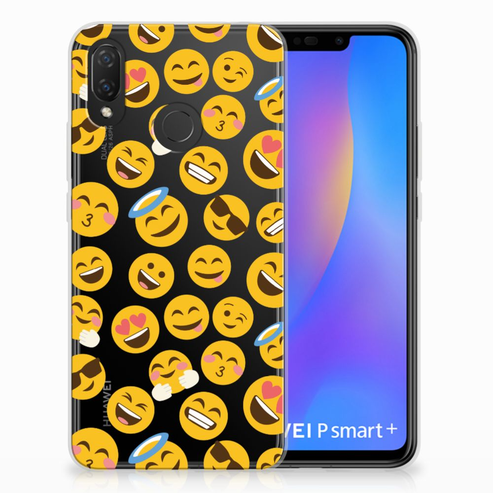 Huawei P Smart Plus TPU Hoesje Design Emoji