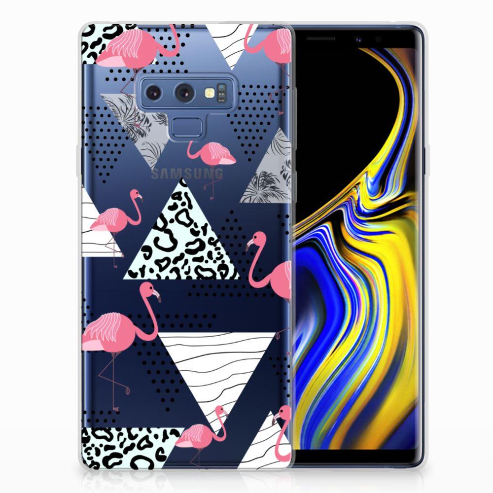 Samsung Galaxy Note 9 Uniek TPU Hoesje Flamingo Triangle