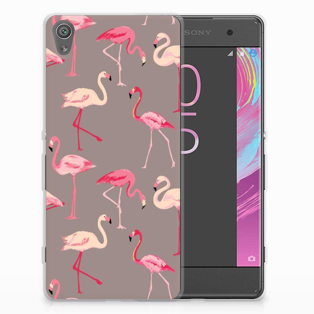 Sony Xperia XA | XA Dual Uniek TPU Hoesje Flamingo