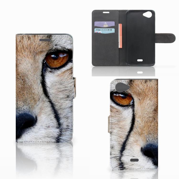 Wiko Rainbow Jam Telefoonhoesje met Pasjes Cheetah