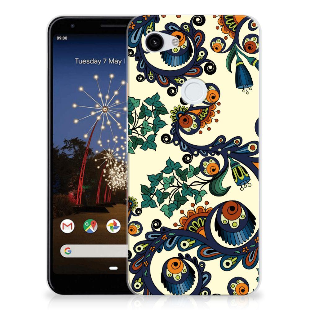 Siliconen Hoesje Google Pixel 3A XL Barok Flower