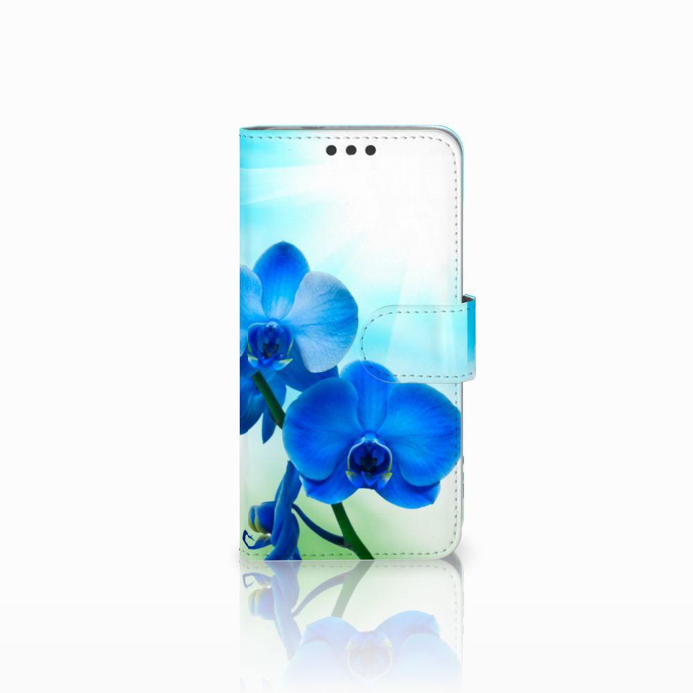 Microsoft Lumia 650 Boekhoesje Design Orchidee Blauw