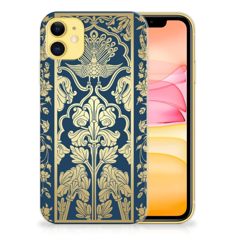 Apple iPhone 11 TPU Case Golden Flowers