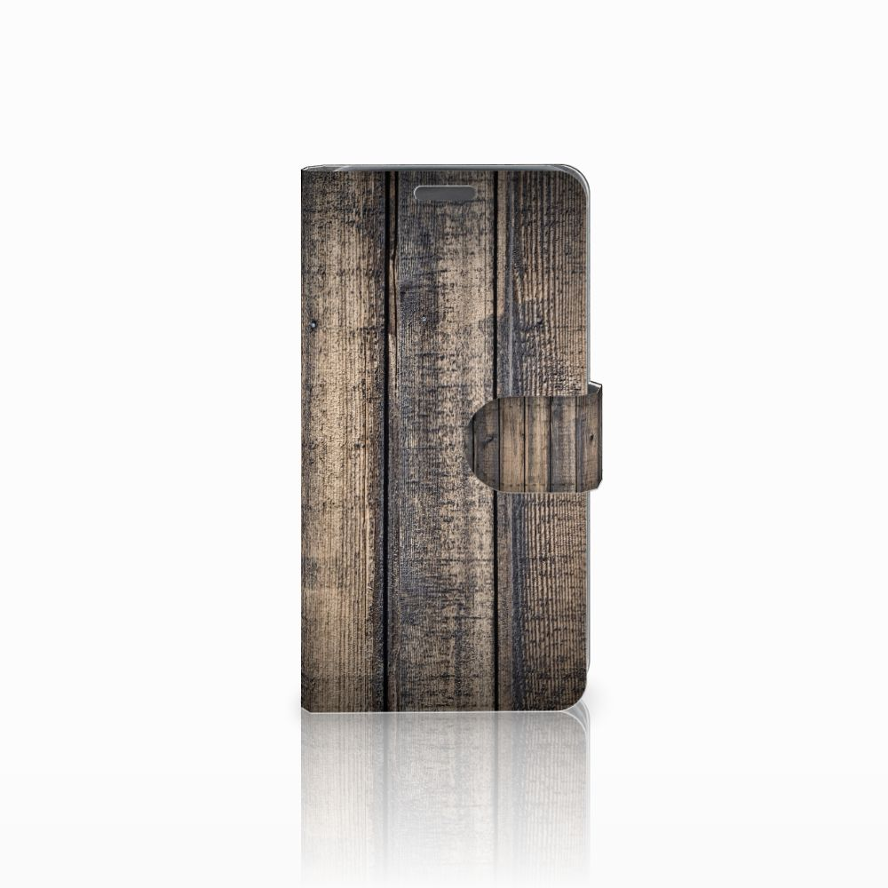 Wiko Lenny Boekhoesje Design Steigerhout