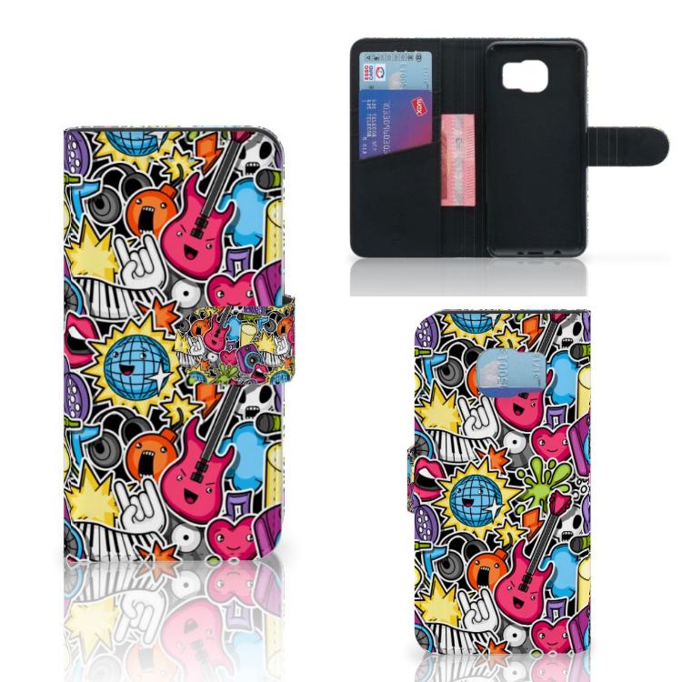 Samsung Galaxy S6 | S6 Duos Wallet Case met Pasjes Punk Rock