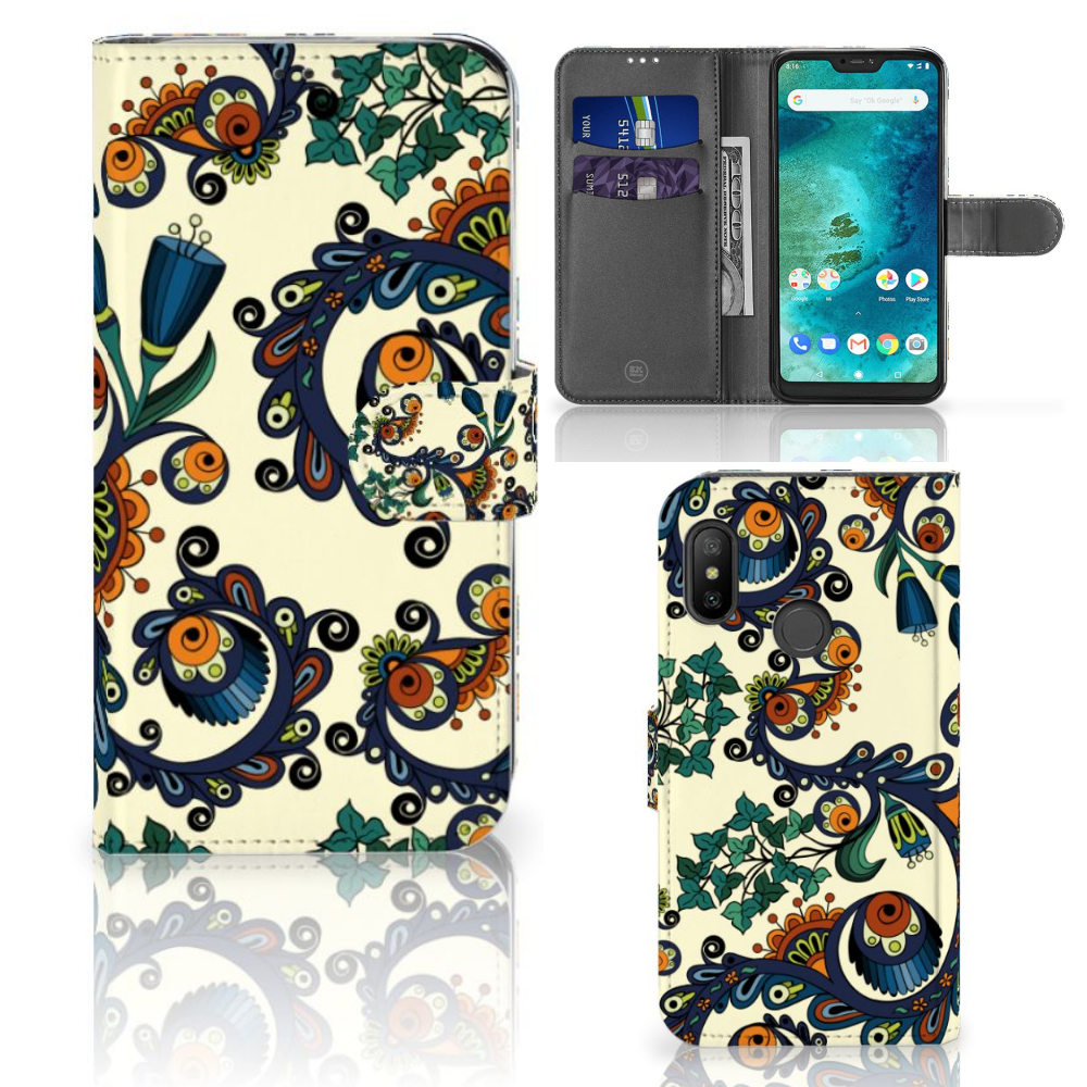 Wallet Case Xiaomi Mi A2 Lite Barok Flower