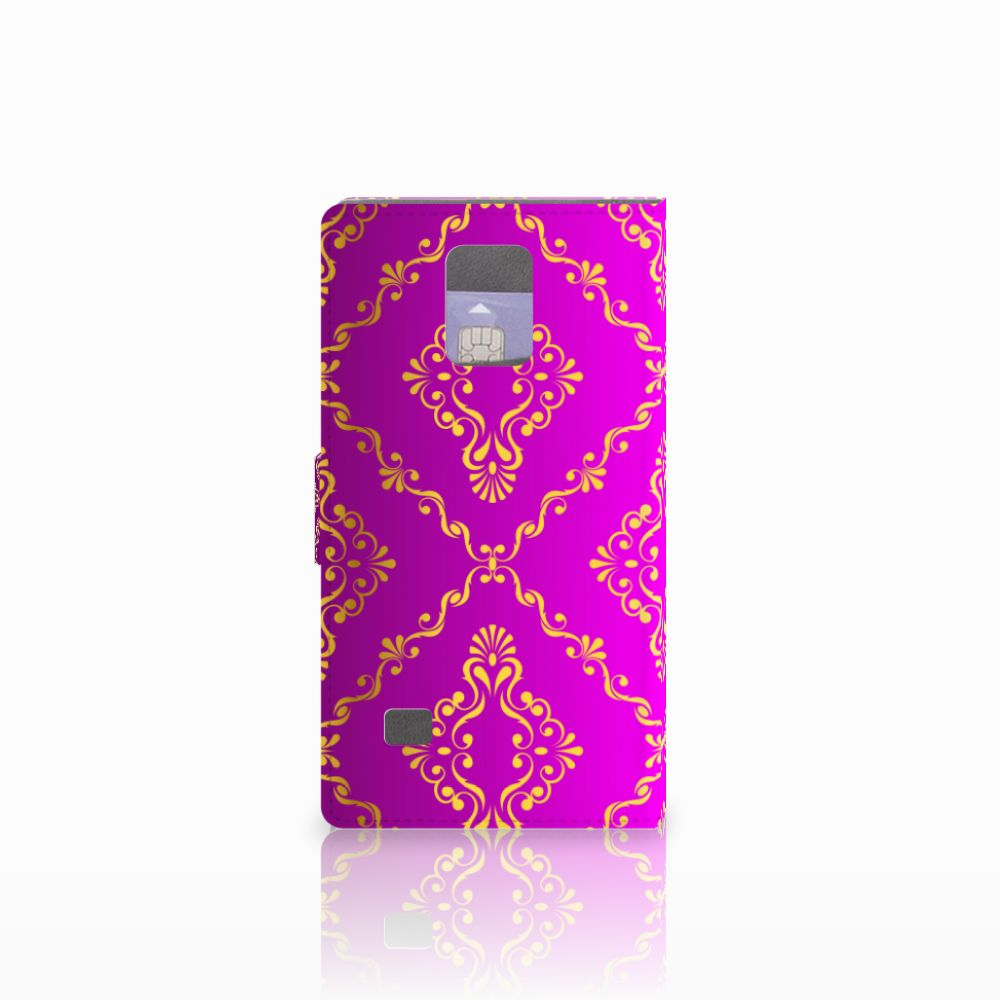 Wallet Case Samsung Galaxy Note 4 Barok Roze
