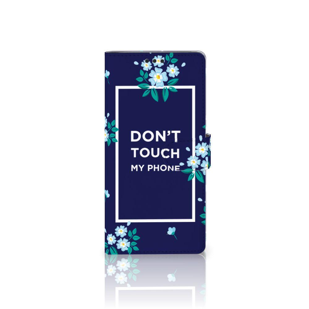 Sony Xperia XA Ultra Boekhoesje Flowers Blue DTMP