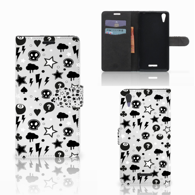Telefoonhoesje met Naam Sony Xperia T3 Silver Punk