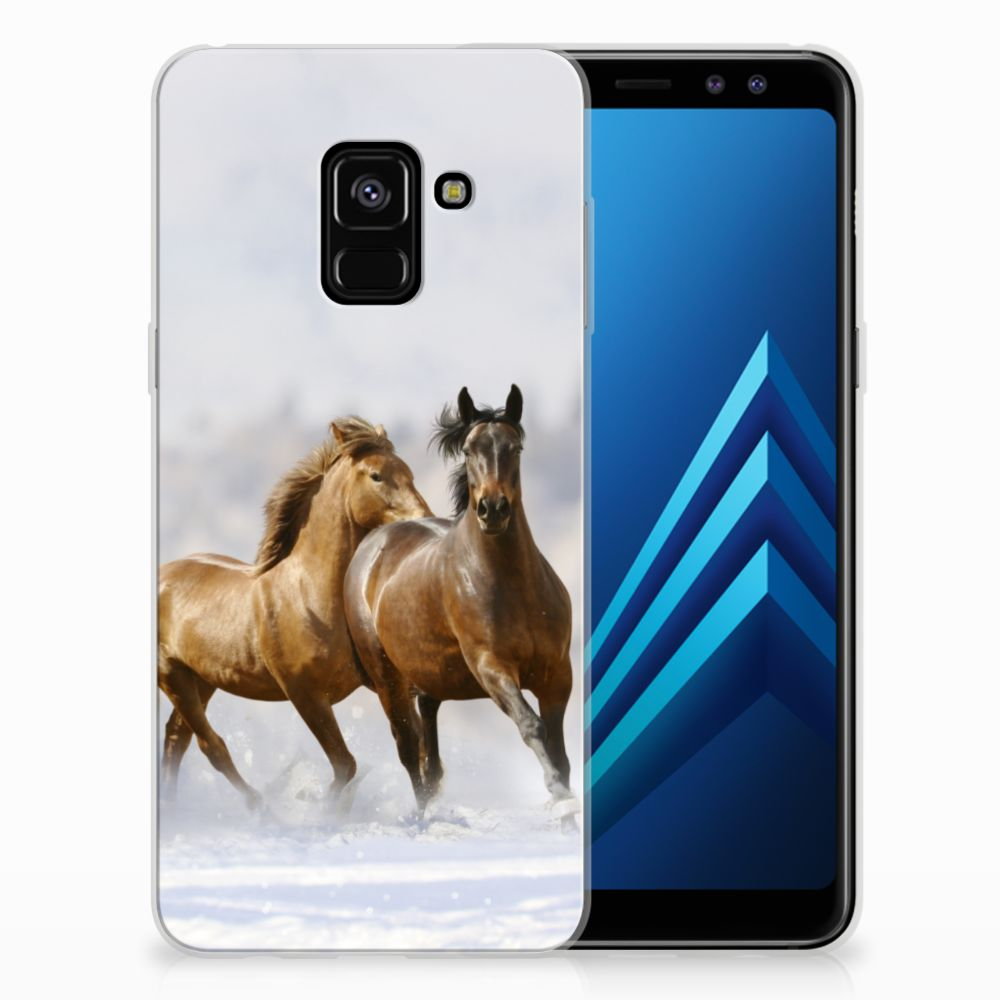 Samsung Galaxy A8 (2018) TPU Hoesje Paarden