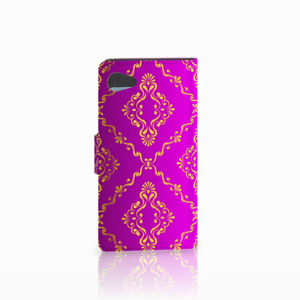 Wallet Case Sony Xperia Z5 Compact Barok Roze