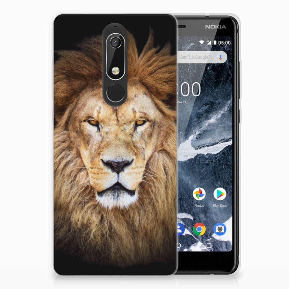 Nokia 5.1 (2018) TPU Hoesje Design Leeuw