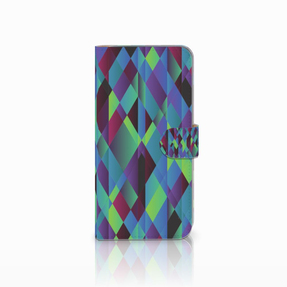 HTC Desire 10 Pro Bookcase Abstract Green Blue