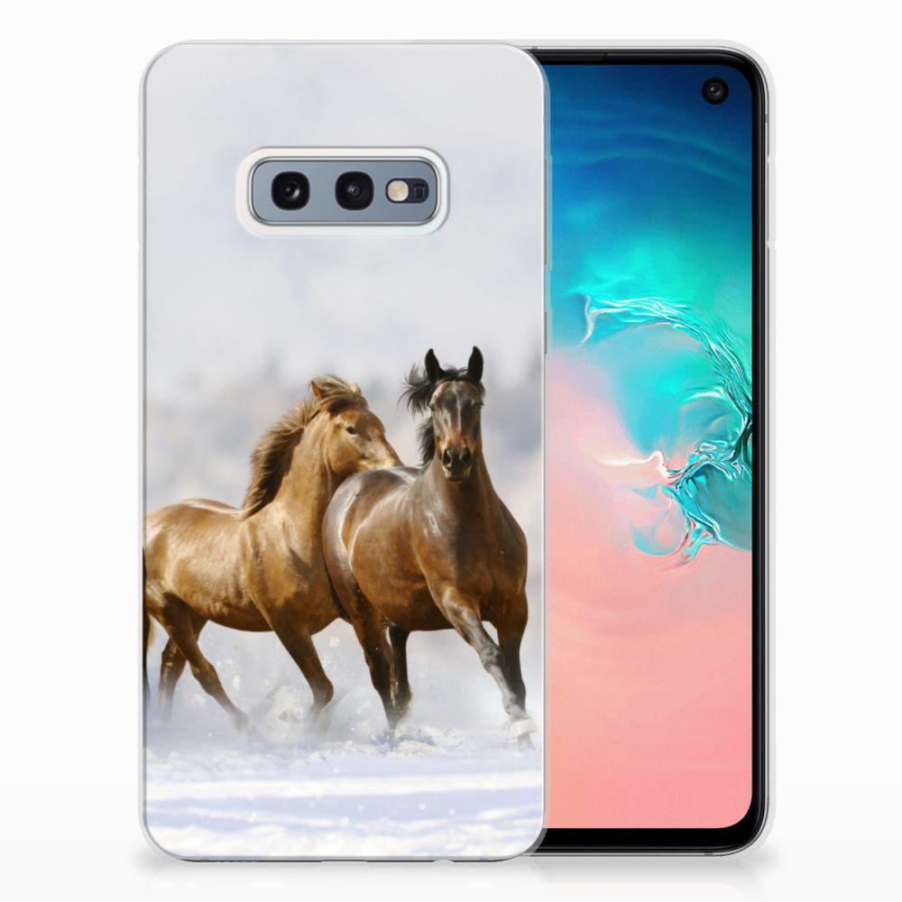 Samsung Galaxy S10e Leuk Hoesje Paarden