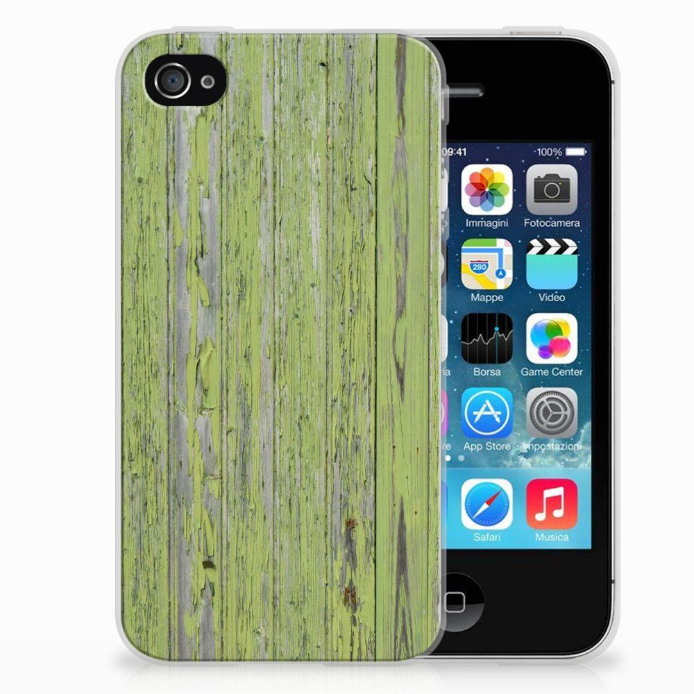 Apple iPhone 4   4s Bumper Hoesje Green Wood