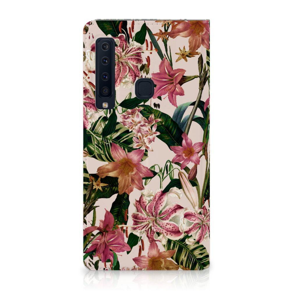 Samsung Galaxy A9 (2018) Uniek Standcase Hoesje Flowers