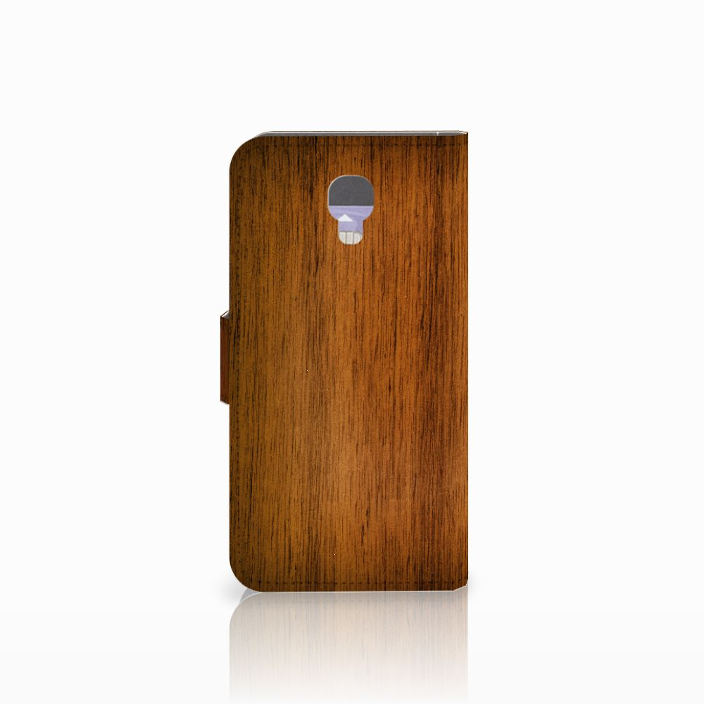 LG X Screen Book Style Case Donker Hout