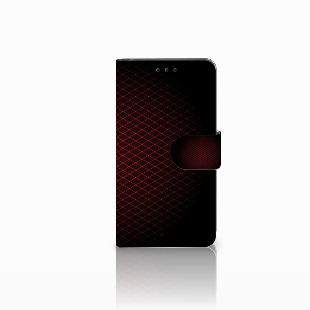 Huawei Y6 Pro 2017 Uniek Boekhoesje Geruit Rood
