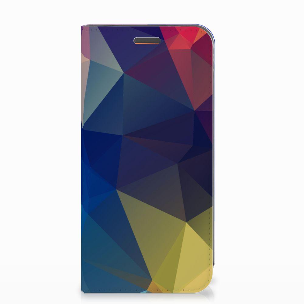 Motorola Moto E5 Play Stand Case Polygon Dark